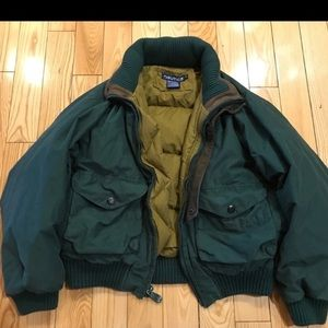 Vintage Cropped Nautica Puffer Jacket green